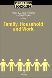 Family, Household and Work (Population Economics) by