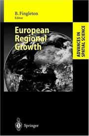 Cover of: European regional growth |