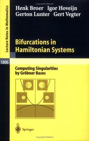 Cover of: Bifurcations in Hamiltonian systems |
