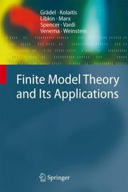 Cover of: Finite Model Theory and Its Applications |