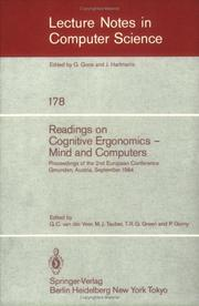 Cover of: Readings on Cognitive Ergonomics, Mind and Computers |