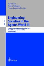 Cover of: Engineering Societies in the Agents World III |