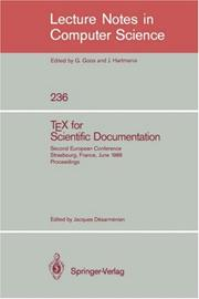 Cover of: TEX for Scientific Documentation
