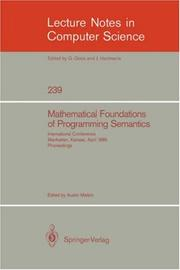 Cover of: Mathematical Foundation of Programming Semantics