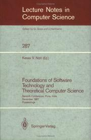 Cover of: Foundations of Software Technology and Theoretical Computer Science