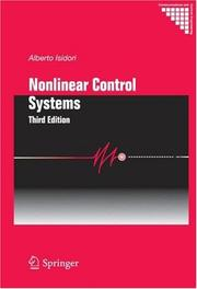 Nonlinear control systems by Alberto Isidori