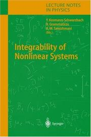 Cover of: Integrability of nonlinear systems |