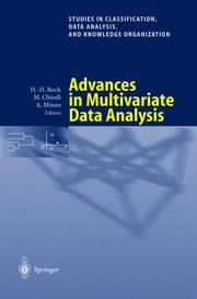 Advances in Multivariate Data Analysis by