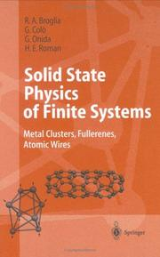 Solid State Physics of Finite Systems by R.A. Broglia, G. Coló, G. Onida, H.E. Roman