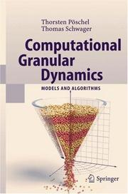 Cover of: Computational granular dynamics by