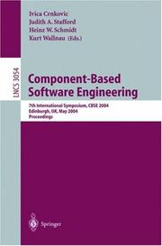 Cover of: Component-Based Software Engineering |