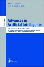 Cover of: Advances in artificial intelligence |