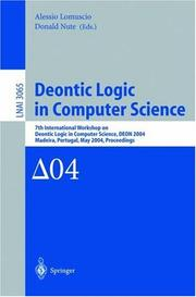 Cover of: Deontic Logic in Computer Science |