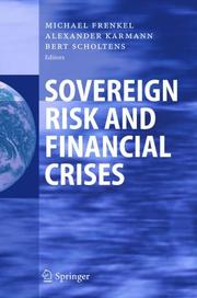 Cover of: Sovereign risk and financial crises |