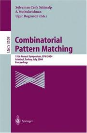 Cover of: Combinatorial Pattern Matching |