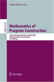 Cover of: Mathematics of Program Construction |