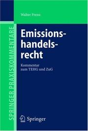 Cover of: Emissionshandelsrecht