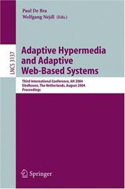 Cover of: Adaptive hypermedia and adaptive Web-based systems |