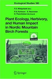 Cover of: Plant ecology, herbivory, and human impact in Nordic mountain birch forests