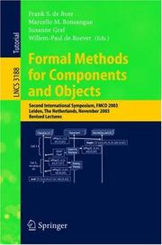 Cover of: Formal methods for components and objects |