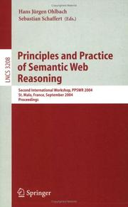 Cover of: Principles and Practice of Semantic Web Reasoning |