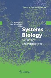 Cover of: Systems Biology |