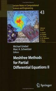 Cover of: Meshfree methods for partial differential equations II