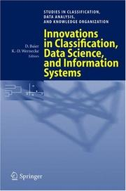 Cover of: Innovations in classification, data science, and information systems