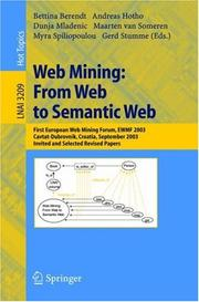 Cover of: Web Mining: From Web to Semantic Web |