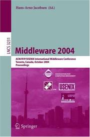Cover of: Middleware 2004