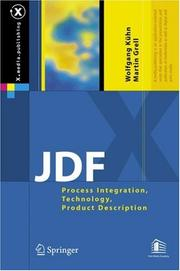 Cover of: JDF |