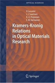 Cover of: Kramers-Kronig relations in optical materials research |