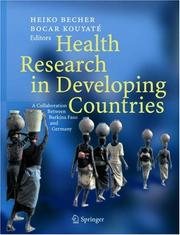 Cover of: Health research in developing countries |