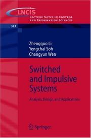 Cover of: Switched and impulsive systems | Zhengguo Li