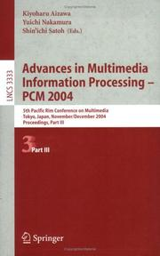 Cover of: Advances in Multimedia Information Processing - PCM 2004 |