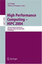 Cover of: High Performance Computing - HiPC 2004 |