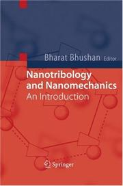 Cover of: Nanotribology and Nanomechanics