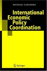 Cover of: International economic policy coordination