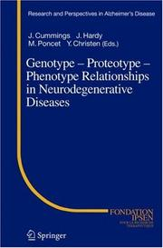 Cover of: Genotype - Proteotype - Phenotype Relationships in Neurodegenerative Diseases (Research and Perspectives in Alzheimer