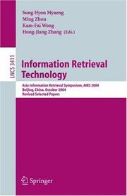 Cover of: Information Retrieval Technology |