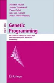 Cover of: Genetic programming | EuroGP 2005 (8th 2005 Lausanne, Switzerland)