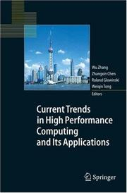 Cover of: Current Trends in High Performance Computing and Its Applications |