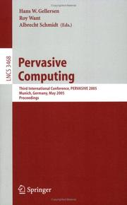 Cover of: Pervasive computing | Pervasive 2005 (2005 Munich, Germany)
