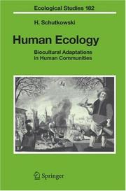 Cover of: Human Ecology | H. Schutkowski