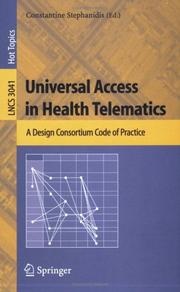 Cover of: Universal Access in Health Telematics