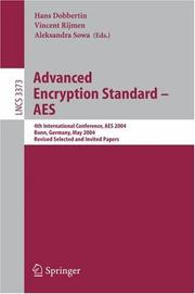 Cover of: Advanced Encryption Standard - AES |
