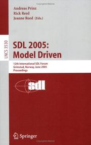 Cover of: SDL 2005: Model Driven  |