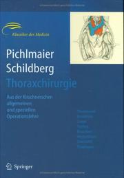 Cover of: Thoraxchirurgie |