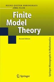 Cover of: Finite Model Theory by