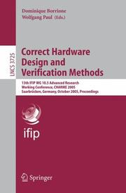 Cover of: Correct Hardware Design and Verification Methods |